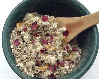 Rosemint Smoking Herbs , Herbal Blend Smoke, All Natural Tea, Incense Smoking Mixture -1oz