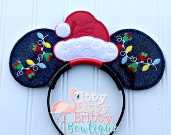 Christmas Minnie inspired Mouse Ears