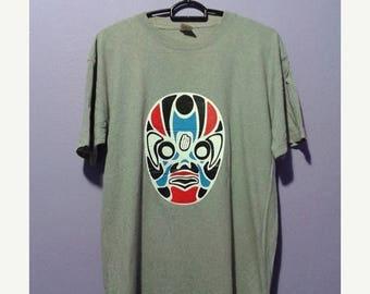 1000 ON SALE Vintage tilt theater japan mask tee shirt