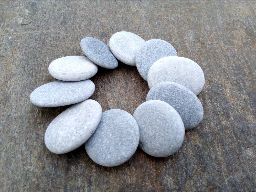 10 large craft stones stones for jewelry craft pebbles for Flat stones for crafts