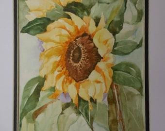 Sunflowers, original painting, sunflower watercolor