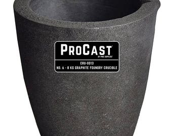 ProCast™ No. 6 - 8 Kg Clay Graphite Foundry Crucible Metal Melting Furnace Refining Gold Silver Copper Jewelry Casting Tool - CRU-0013