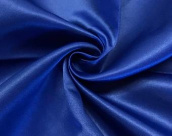 "Royal Blue Matte Satin (Peau de Soie) Duchess Fabric Bridesmaid Dress 60"" Wide Sold BTY"