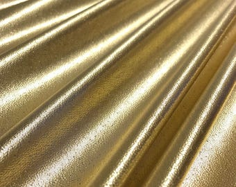Tissue Lame Fabric Shiny Gold for Craft Decoration Costume Design 44'' Wide By The Yard