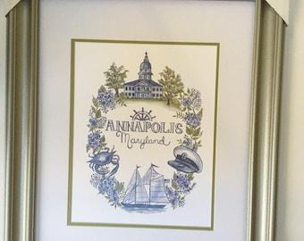 Annapolis Maryland Print