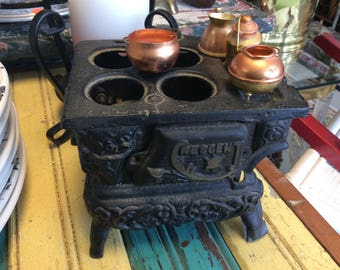 Salesman's sample cast iron stove