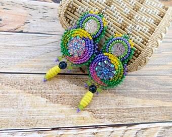 Ethnic earrings, african earrings, tribal earrings