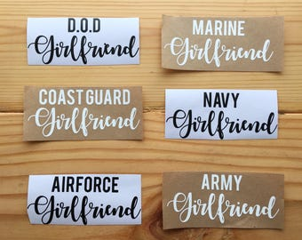 Military Girlfriend Decal, MILSO Car Decal, Laptop Decal