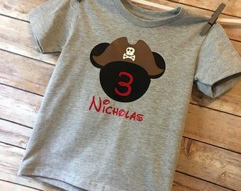 Pirate Mickey Birthday Shirt