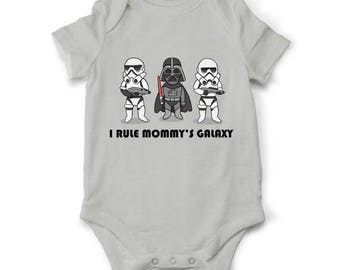 10% OFF SALE Star wars Baby boy bodysuit Mommy's Galaxy, Star Wars bodysuit, Jedi  baby clothes, Star wars baby outfit, Baby shower gift