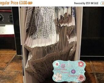 Summer Sale Reindeer - Christmas - Book Folding Pattern