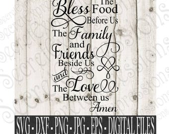 Bless the Food Before Us svg, family & Friends svg, religious svg, Family svg, eps, png, DXF JPEG, SVG Cricut, Svg Silhouette, Print File