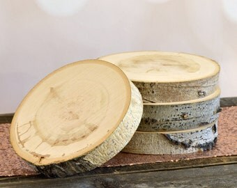 "10"" Set of 10 Large Tree Slices - Rustic Wedding Decor, Charger, Wedding Centerpiece, Wood Slab ~ Spring Wedding ~ Rustic Wood Slices"