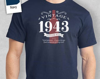 75th Birthday, 1943 Birthday, 75th Birthday Present. 75th Birthday Idea for 1943 Birthday, 75th, Birthday Shirt, 75 Birthday!