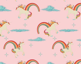 1/2 Yard Novelty Unicorns by Doohikey Designs for Riley Blake Designs- 3710 Pink