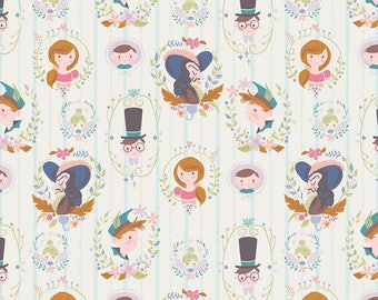 1 Yard Neverland by JIll Howarth for Riley Blake Designs- 6571 Cream Darling Wall