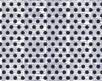 SALE!! 1 Yard Lost and Found Americana by Jen Allyson for Riley Blake Designs- 5982 Navy Dot