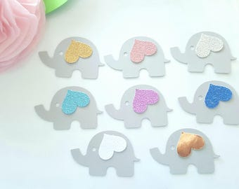 Elephant die cuts,Elephant confetti, Elephant theme, Elephant baby shower decor,Small elephant cut outs,First birthday confetti,