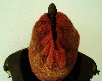 Snood wool, mohair and acrylic in the colors of the self