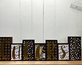 Home Decor Wood Blocks - Cheers!