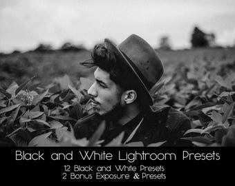 12 Black and White Lightroom Presets | Moody Black and White Lightroom Presets | Lightroom preset | Lightroom Presets