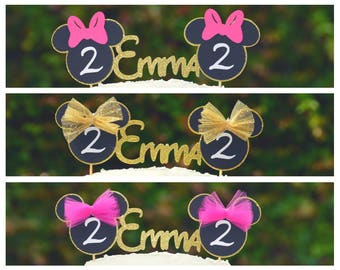 Minnie Mouse Cake Topper,Minnie Mouse Ears,Minnie Mouse Cake Smash,Minnnie Mouse Cake Decorations,Minnie Mouse 1st Birthday Cake Topper,