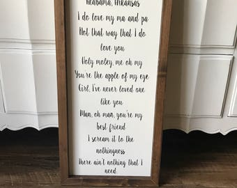 Wedding Gift ,  Personalize, Wedding Lyrics, Vows, Favorite Quote,  Love story, Wedding Gift,  Anniversary Gift, Wall Decor, 1.2'x2.5""