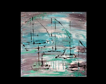 abstract painting modern art abstract sailboats