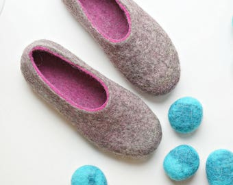 Women Wool Shoes For House, Ladies Warm Slippers, Comfy Grey Women Shoes