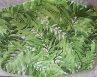 Jungle leaves green change table pad cover. Change pad slip cover.
