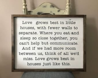 2'x3' Love Grows Best in Little Houses