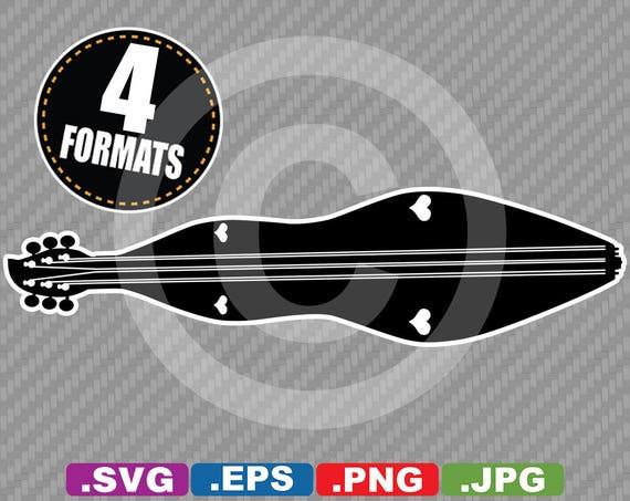 Dulcimer Clip Art Image SVG cutting file Plus eps vector