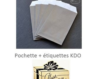 adhesive labels + covers kdo taupe and gold set of 5