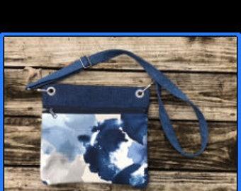 Crossbody bag, womens crossbody bags, denim bag, denim crossbody bag, blue bag, blue cross body bag