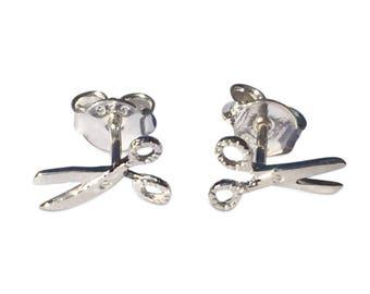 925 Sterling Silver Studs Scissor, scissors stud earring, everyday wear