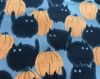 Black Cat Halloween Fabric Fauxdori Traveler's Notebook