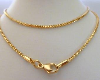 9ct Solid Gold Franco Chain 9ct 9k 10k 375 Men S Women