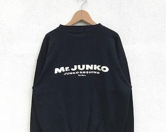 20% OFF Vintage Mr Junko Sweatshirt,Junko Koshino Designer Shirt,Japanese Designer,Mr Junko Spell Out