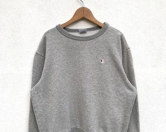 20% OFF Vintage Champion Sweatshirt / 90s Champion pullover / Champion C Logo / Champion Spell Out Sweatshirt / Champion Big Logo