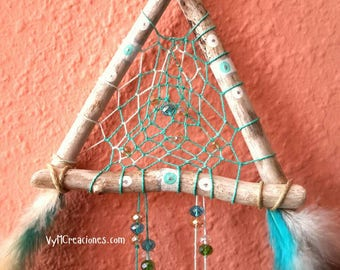 DreamCatcher wood sea, Dreamcatcher, Boho Chic, Hippie, rustic decor.