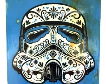Sugarskull Stortrooper Mask Distressed