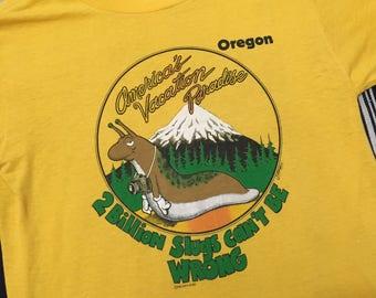 Vintage 1980s Oregon Graphic Tee Mens Size S/M