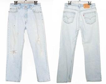 Size 33 505 Vintage Levis, 33x30 505s, 33x30 Levis, Vintage Levis Size 33, Vintage 505 Levis Size 33, High-waisted Denim, 33x32 Levis