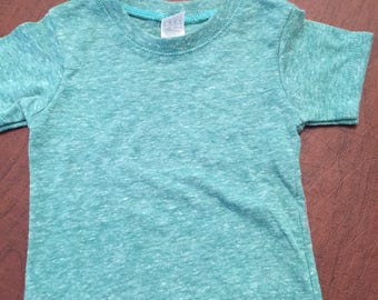 Green Organic Cotton Baby Clothes Plain T-shirt Size 6-12mo