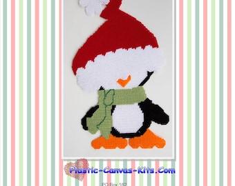 Santa Penguin-Christmas-Plastic Canvas Pattern-PDF Download