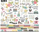 """I Am 12x12 Cardstock Stickers - Simple Stories - Cardstock Stickers 12""""X12"""" - Perfect for Bible Journaling!"""