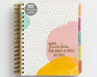 Illustrated Faith Agenda Planner - 18-Month Agenda - Take control of your time = more room for bible journaling!!!