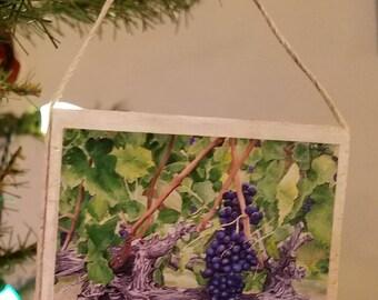 Vinyard Grapes Ornament