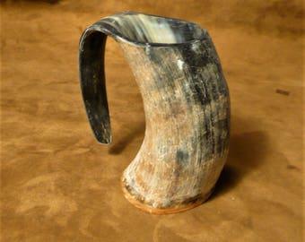 Horn mug, tankard, Viking, barbarian, medieval style drinking vessel