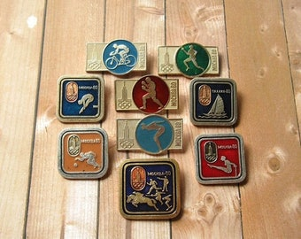 20% Off Sale 22nd Olympic Games Pins, Sports Collectible, Summer Olympic, Badges for Collection